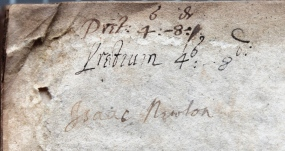 Signature of Isaac Newton