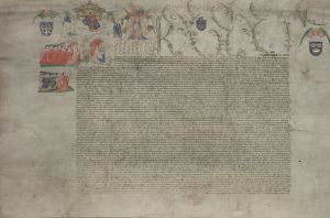 First sheet of the Charter upon Act of Parliament, 16 March 1445-6 (KC/18) ©DIAMM