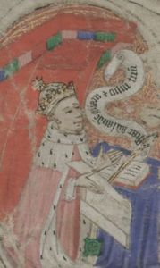 Detail of Henry VI from the Charter upon Act of Parliament, 16 March 1445-6 (KC/18) ©DIAMM