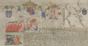Detail of the Charter upon Act of Parliament, 16 March 1445-6