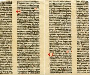 Gutenberg Bible Leaf 2