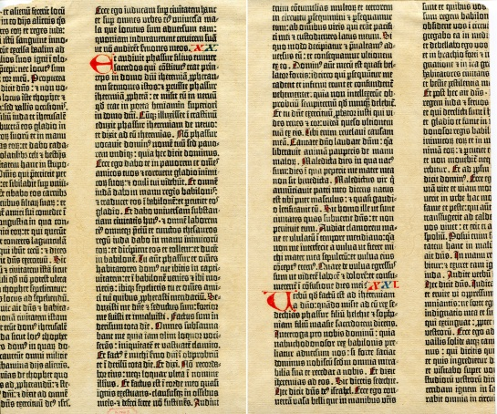 Gutenberg Bible Leaf 2
