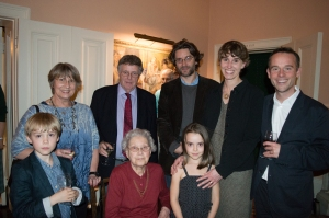 Back (l-r): Vicky and Henry Saltmarsh, their son Nick and daughter Anna, with her husband Richard Hartshorn. Front (l-r) Anna and Richard's children Harry and Hebe, with Violet Saltmarsh, their great-grandmother and John Saltmarsh's sister-in-law.