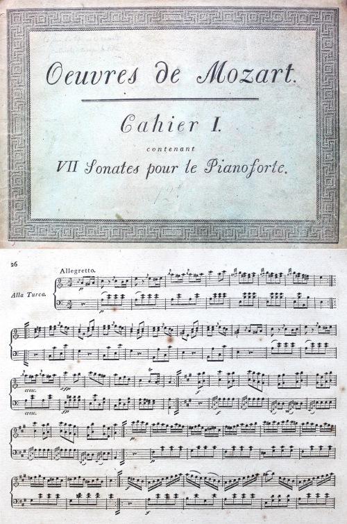 Œuvres complettes. Cahier I, contenant VII sonates pour le pianoforte / Wolfgang Amadeus Mozart. Leipzig: Breitkopf & Härtel, ca. 1798. Rw.28.84/1