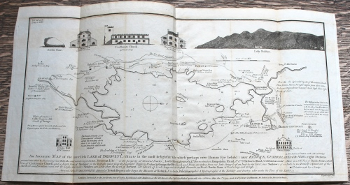 An accurate map of the matchless Lake of Derwent (situated in the most delightful Vale which perhaps ever Human Eye beheld) Peter Crosthwaite, Maps of the Lake District (London: published & sold by Peter Crosthwaite, 1819) Bicknell.10