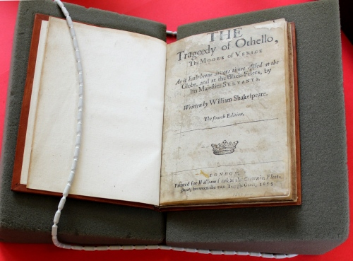 William Shakespeare, The Tragoedy of Othello, the Moore of Venice London: Printed for William Leak, 1655