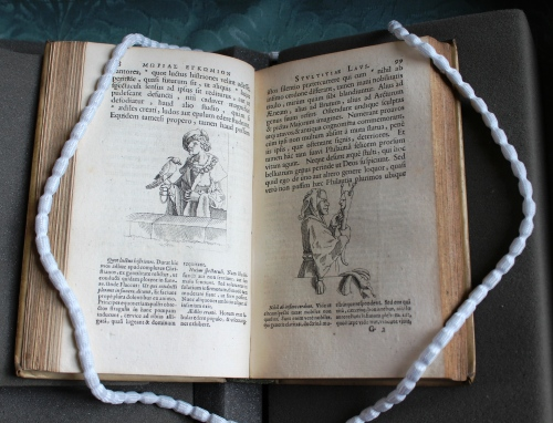 Desiderius Erasmus, Mōrias enkōmion = Stultitiae laus Basel: Johann Rudolph Genath, 1676 (Thackeray.J.46.6)