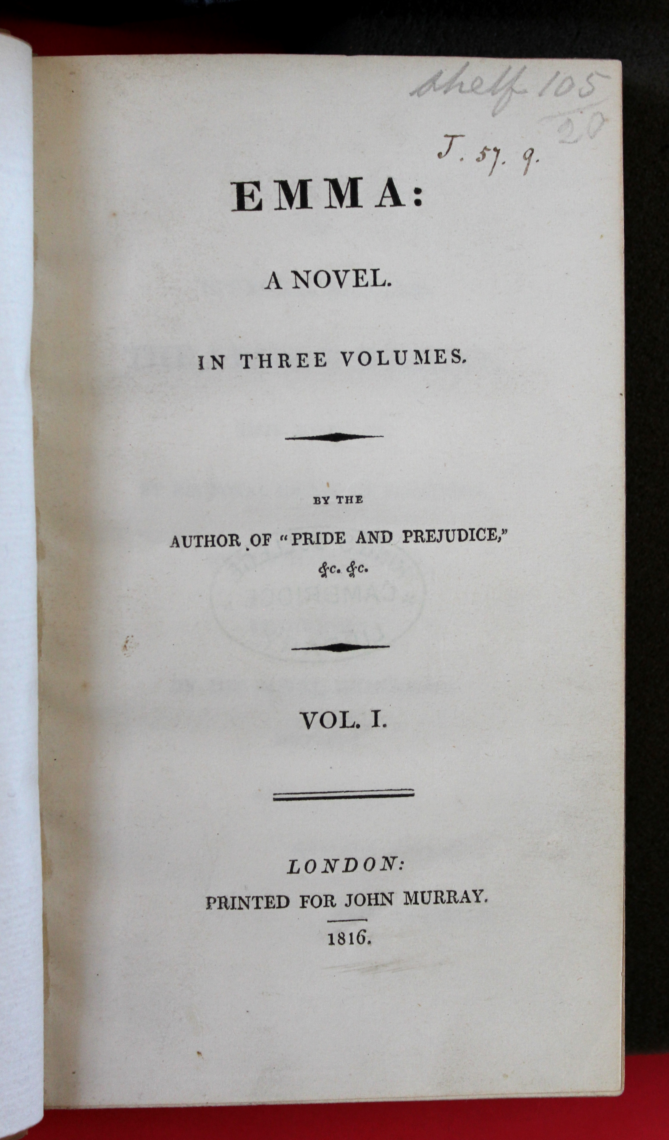 Emma by jane austen first edition 1st printing, 1816 extremely.