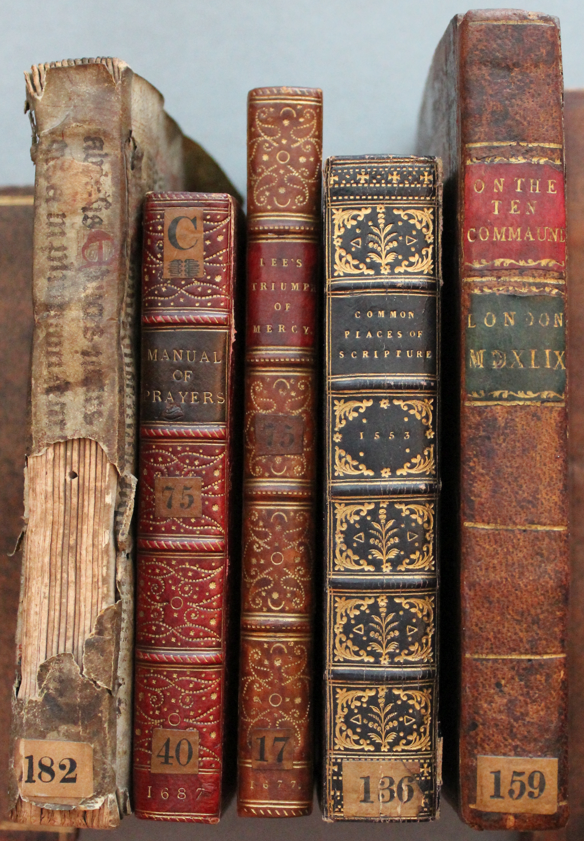 spines library digital spine project gold bands panels without thackeray labels leather king tooled raised vellum gatherings exposed decorative rare