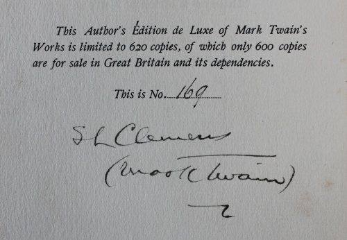 Signed edition statement