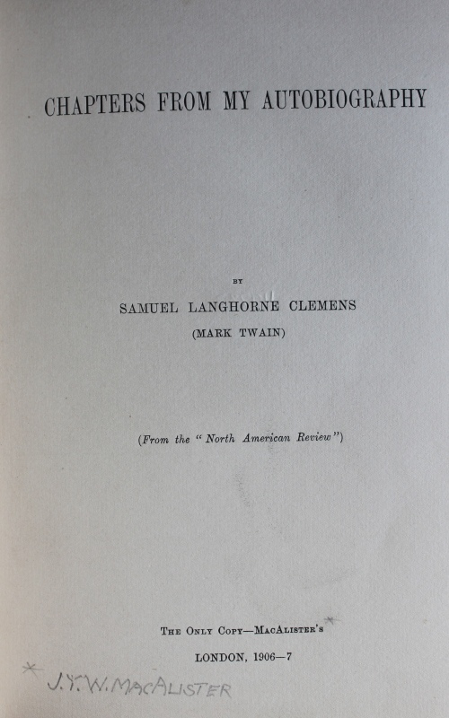 Unique title page