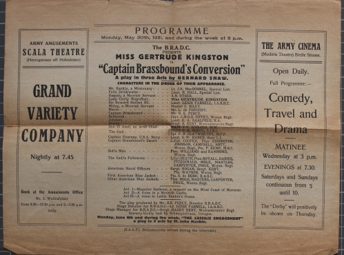 Theatrical leaflet