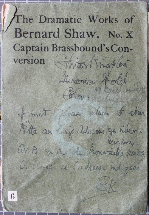 Front cover of Captain Brassbound's conversion